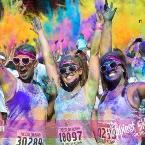 Первый благотворительный забег Colour Run 2015