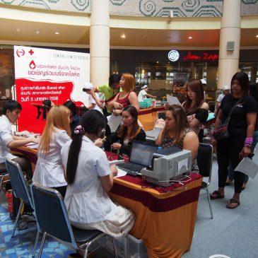 Красный Крест Таиланда собирает кровь