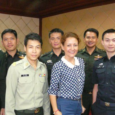 Визит курсантов Бангкокской военной академии в Паттайю