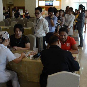 Акция по забору донорской крови в Бангкок Паттайя госпитале