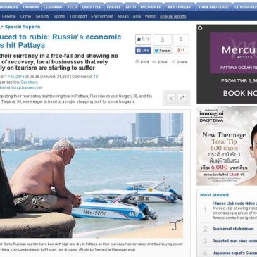 Bangkok Post о ситауции на российском рынке Паттайи