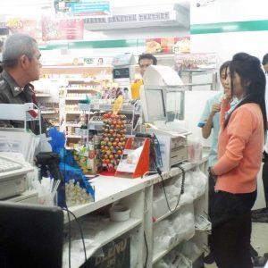 Ограбление магазина Family Mart в Паттайе