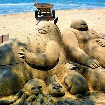Фестиваль песочных скульптур на пляже Саттахип