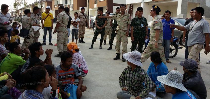 Полицейский рейд в лагере строителей в Паттайе
