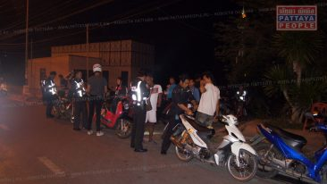 Проверка на дорогах Паттайи полиция Паттайи