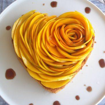 Как нарезать манго розочкой