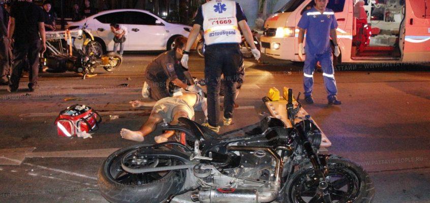Авария мотоциклов с летальным исходом в Паттайе