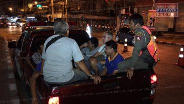 Облава на пьяных водителей в Паттайе