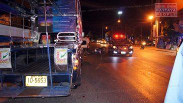 Пьяный мотоциклист врезался в тук-тук в Паттайе