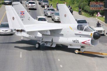 Самолет создал пробки на дорогах Паттайи