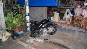 Honda снесла столб электропередачи в Паттайе