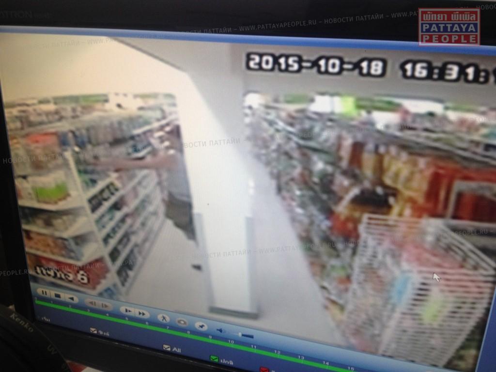 Украинец обворовал магазин в Паттайе