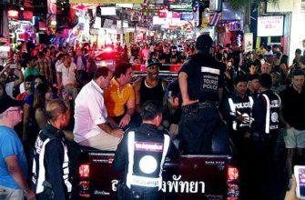 Полицейский рейд на иностранных туристов в Паттайе