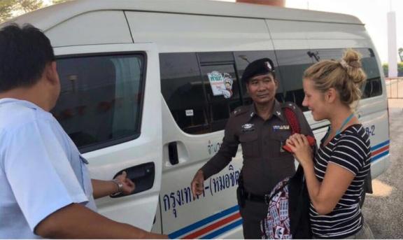 Добрые полицейские помогли русской путешественнице