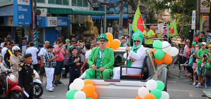 Зелёное 17 марта — День святого Патрика в Паттайе