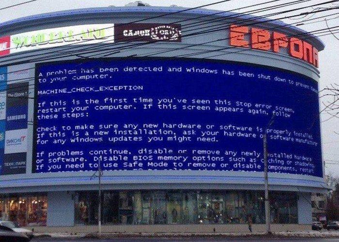 Самый большой в мире «синий экран смерти» зафиксирован в Паттайе (1)