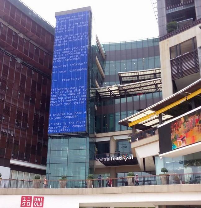 Самый большой в мире «синий экран смерти» зафиксирован в Паттайе
