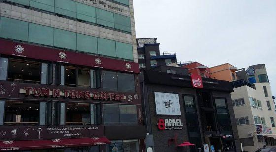 Кофейня в Пусане Южная Корея