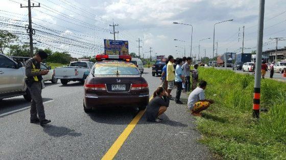 Неопознанное тело на шоссе Сукхумвит в Паттайе