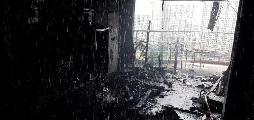Пожар в Паттайе AD Condominium (видео)