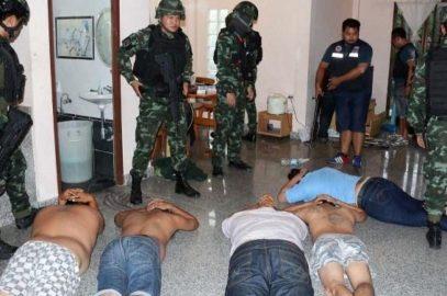 Захват преступников в Паттайе (видео)