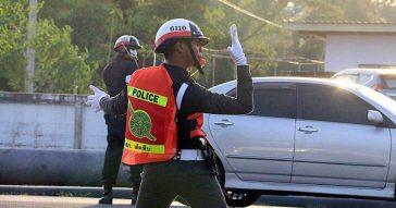 Танцующий полицейский в Паттайе