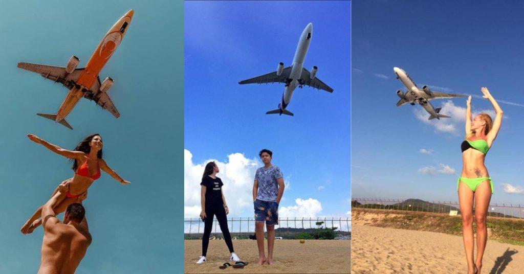 В Таиланде запретили фотографировать самолеты на пляже