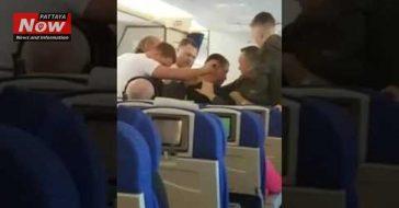 Россиянин устроил пьяную драку в самолете по пути в Таиланд (ВИДЕО)