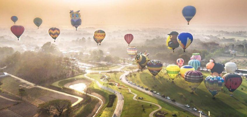 Фестиваль воздушных шаров в Таиланде