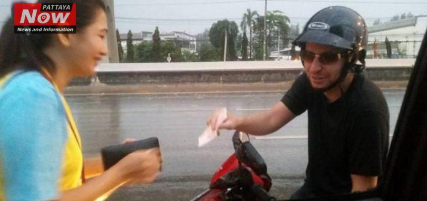 Наглый иностранец выманивает деньги в Таиланде