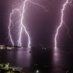 Гроза в Паттайе — штормовое предупреждение