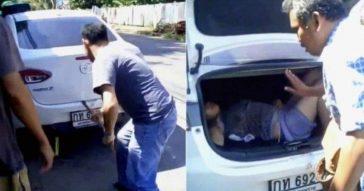 Муж запер раненную жену в багажнике авто