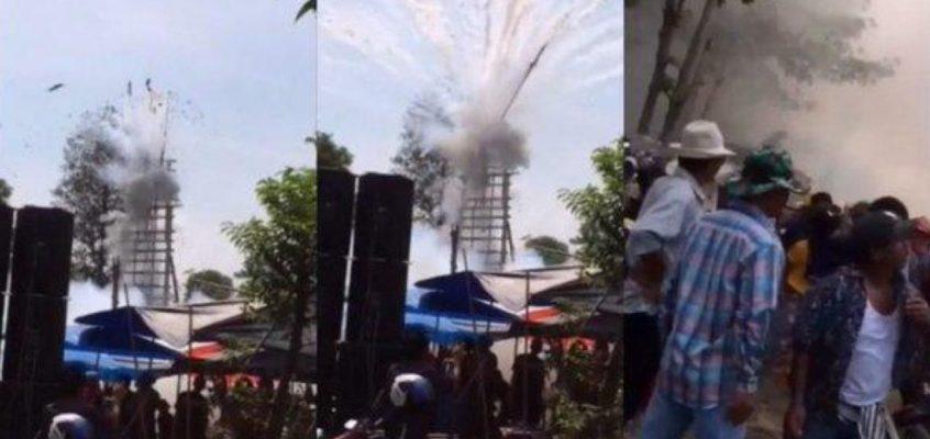 Ракета взорвалась на фестивале в Таиланде