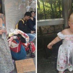 Русскоязычная туристка попрошайничает в Бангкоке