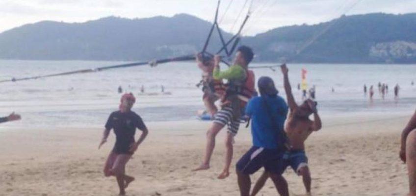 Китаец на отдыхе заставил 2-летнюю дочь летать над Пхукетом