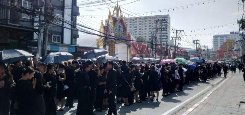 Прощание с Королем Таиланда в Паттайе (ФОТО, ВИДЕО)