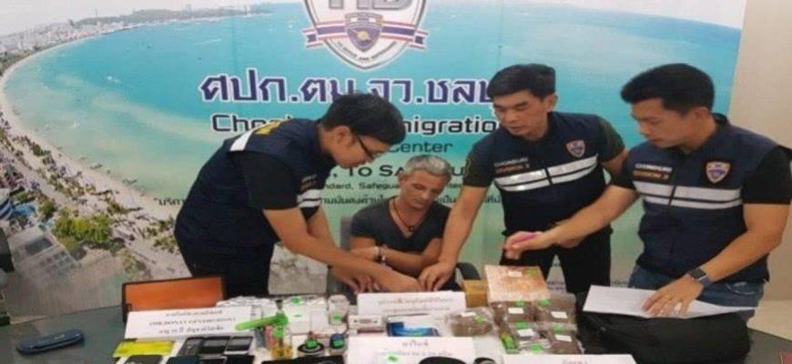 Россиянин арестован за наркотики в Паттайе