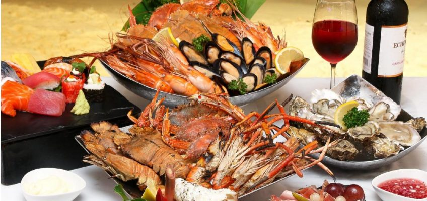 Буфет из морепродуктов в Пульман Паттайя
