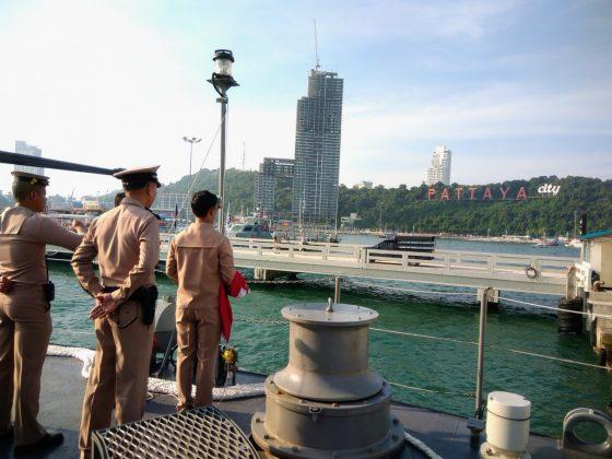 Репетиция парада кораблей в Паттайе