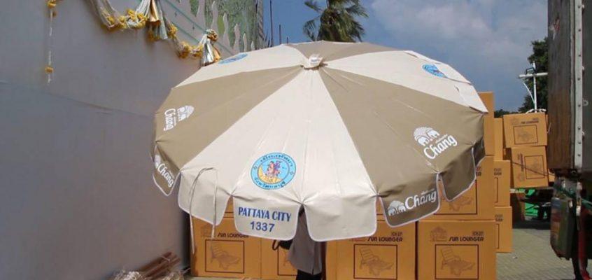 В Паттайе ищут новых спонсоров пляжных зонтиков и шезлонгов