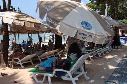 Пляжные зонтики в Паттайе оказались вне закона