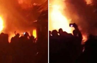 Большой пожар на Уокинг-стрит поверг туристов в панику