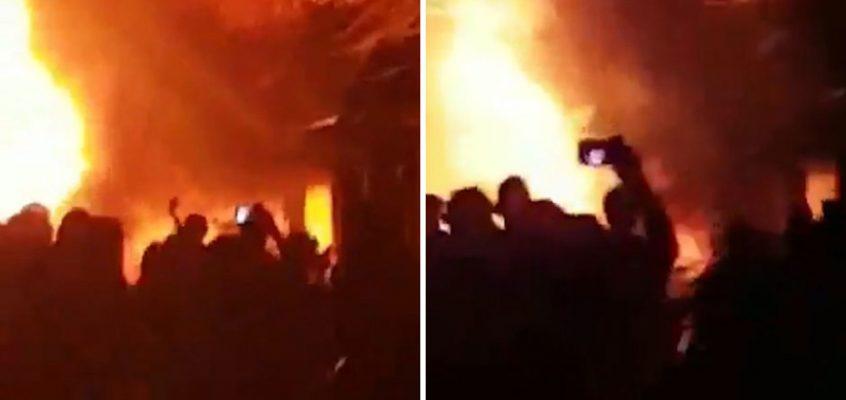 Большой пожар на Уокинг-стрит в Паттайе поверг туристов в панику