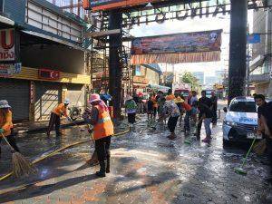 Уборка на Walking Street в Паттайе