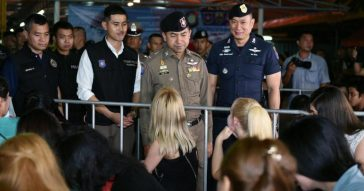 Полицейский рейд на иностранцев в Таиланде