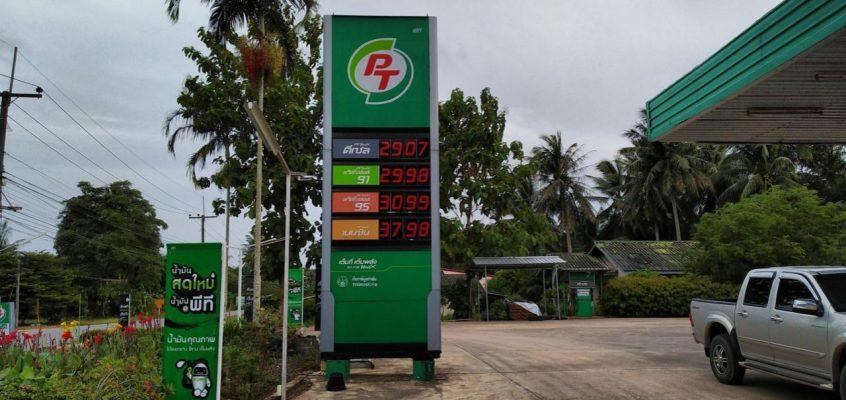 Сравнение стоимости бензина в Таиланде и в России