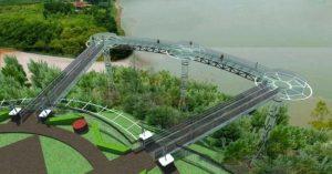 Стеклянный мост над рекой Меконг
