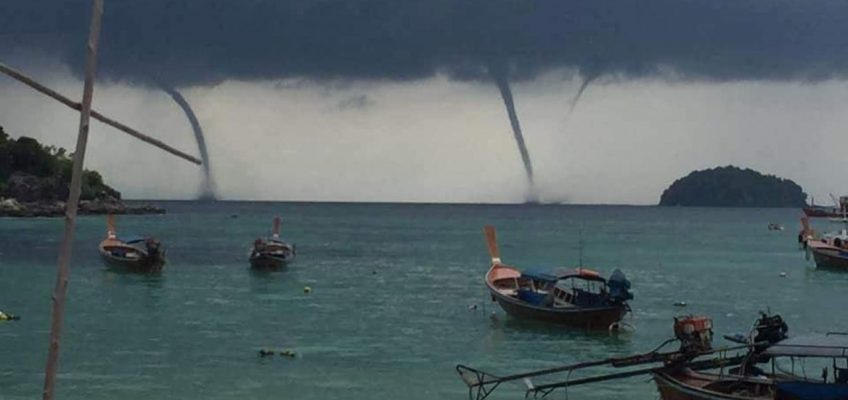 Морские смерчи в Таиланде