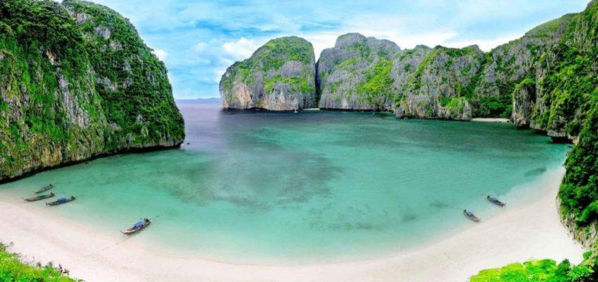 Сотни акул появились в заливе Майя Бэй в Таиланде