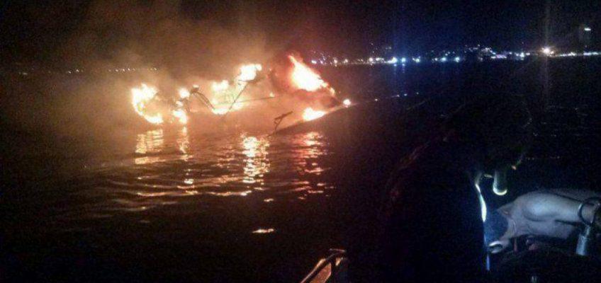 пожар на яхте на Пхукете